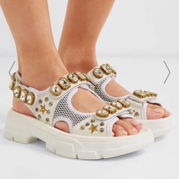 Michael Kors Shoes - White embellished sandals crystals mesh